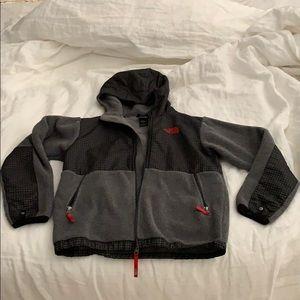 The Northface fleece hooded jacket